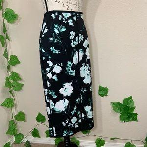 Worthington Floral Pencil Stretch Skirt